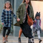 Jessica Alba's Rainy Shopping Day With Family