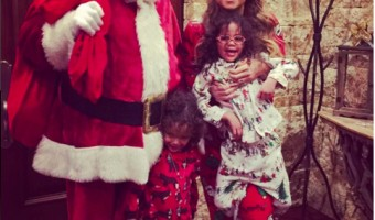 Mariah Carey & Twins Get a Visit From Santa