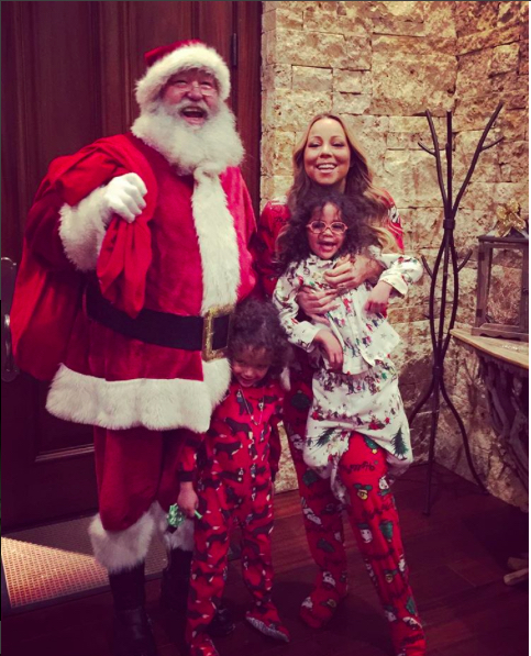 Mariah Carey With her Twins and Santa For Christmas