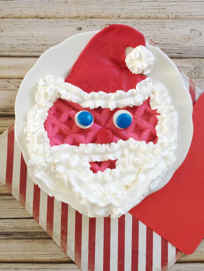Santa Waffles For Kids