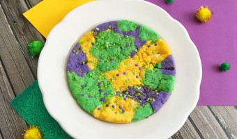 Giant Mardi Gras Cookie For Kids