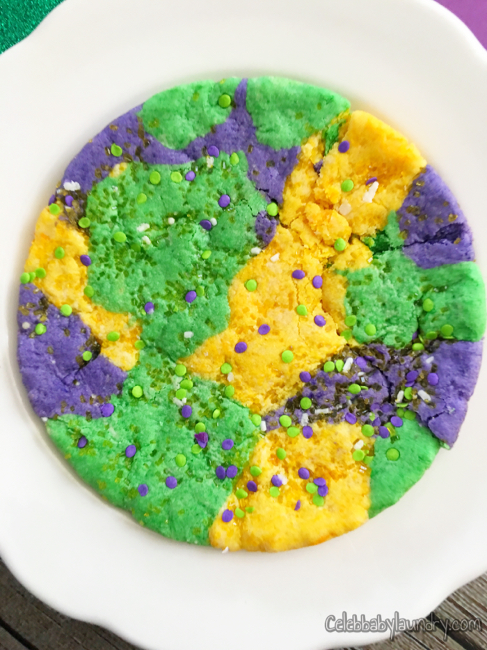 Mardi Gras Cookie For Kids