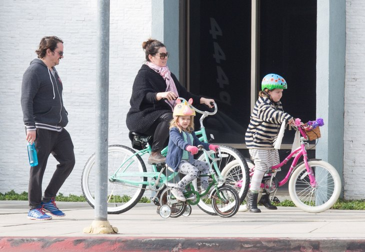 Exclusive... Melissa McCarthy & Family Out For A Bike Ride