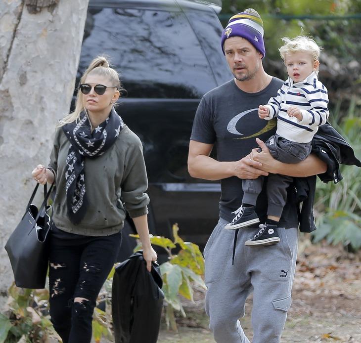 Josh Duhamel & Fergie Take Their Son To The Park