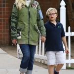 Gwen Stefani Spends the Day With Zuma & Apollo