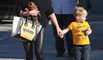 Hilary Duff Out In West Hollywood With Her Son