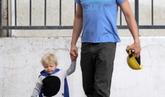 Josh Duhamel Enjoys Father-Son Breakfast With Axl