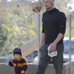 Josh Duhamel Picks Up Daddy Duties While Fergie is in Paris