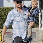 Josh Duhamel Has a Brunch Day With Axl
