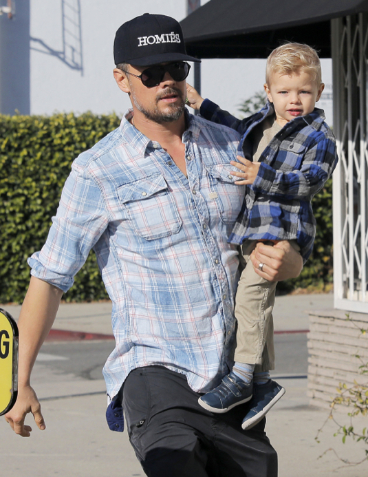 Exclusive... Josh Duhamel Takes His Son To Breakfast In Santa Monica