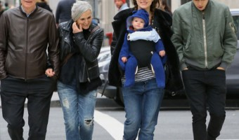 Keira Knightley Strolls With Family on New Year's Eve