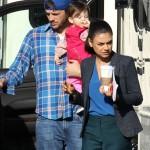 Mila Kunis Gets A Special Visit From Daughter Wyatt on Set