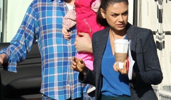 Mila Kunis Gets A Special Visit From Daughter Wyatt on Set