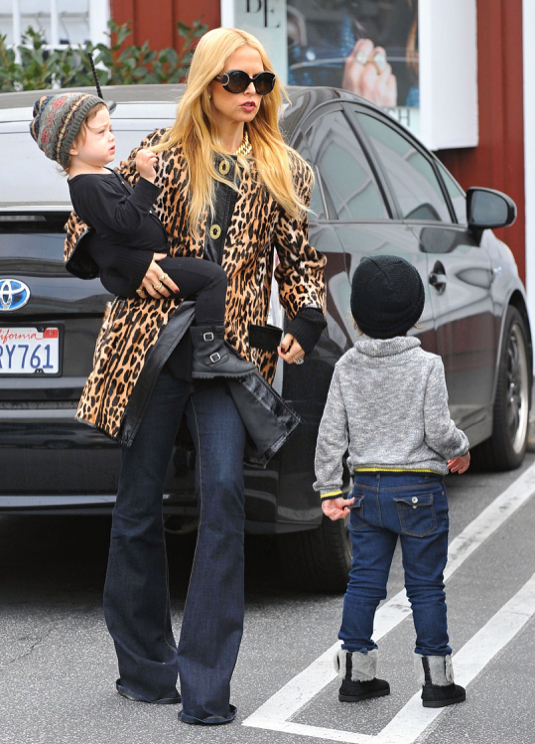 Rachel Zoe Takes Her Sons Out For Lunch