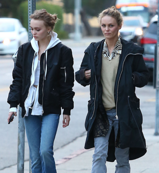 Vanessa Paradis & Lily-Rose Depp Out Shopping In West Hollywood