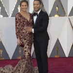 Pregnant Chrissy Teigen & John Legend at the 2016 Academy Awards