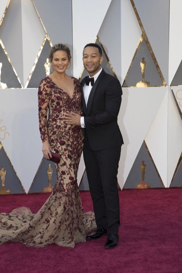 Chrissy Teigen & John Legend at the Oscars
