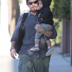 Christian Bale Enjoys a Day With Son Joseph