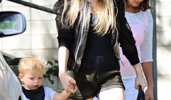 Fergie Enjoys Mother-Son Day With Axl
