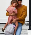 Lily Aldridge And Alessandra Ambrosio Meet Up For Lunch With Their Kids