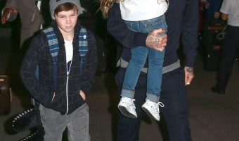 David Beckham and Kids Airport Adventure – Brooklyn, Romeo, Cruz, and Harper Beckham Are Travel Pros