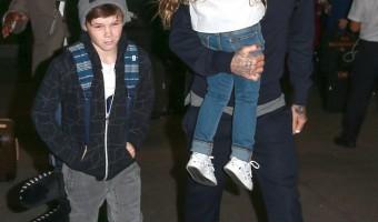 David Beckham and Kids Airport Adventure – Brooklyn, Romeo, Cruz, and Harper Beckham Are Travel Pros