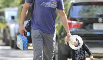 Josh Duhamel and Son Axl Enjoy a Silly Playdate