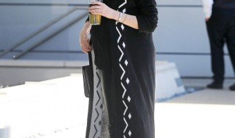Anne Hathway's Pregnancy Steal-Worthy Style: Leather Pants and Chic Ankle-Length Cardigan