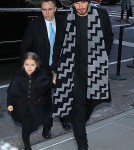 Victoria And David Beckham Take Their Kids To Dinner After Victoria's Fashion Show
