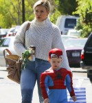 Hilary Duff Takes Her Son Luca Comrie To A Kid's Party