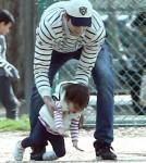 Exclusive... Mila Kunis & Ashton Kutcher Take Wyatt To A Park