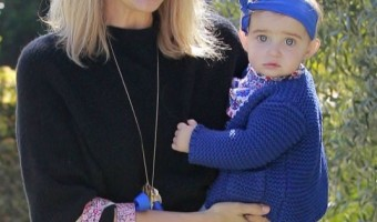 Molly Sims Has an Outing With her Baby Girl