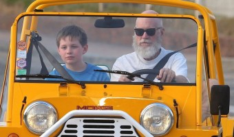 Nearly Unrecognizable David Letterman and Son Harry Enjoy Some Fun in St. Barts