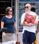 Exclusive... Barely Recognizable David Letterman Shopping In St. Barts