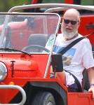 David Letterman Rides Around St Barts