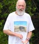 David Letterman jogging in St Barts