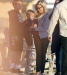 Exclusive... Reese Witherspoon Takes Her Kids To The Beach