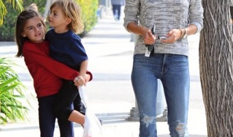 Alessandra Ambrosio Lunches With Anja & Noah