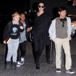 Angelina Jolie Catches a Flight at LAX With Children