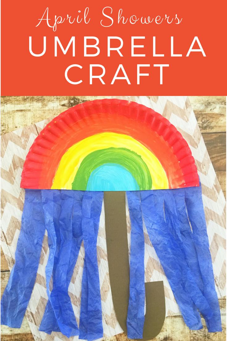 April Showers Umbrella Craft For Kids