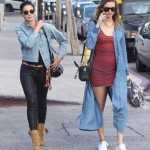 Pregnant Behati Prinsloo Enjoys a Shopping With Lily Aldridge