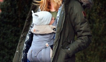 Brooklyn Decker Strolls With Baby Son Hank