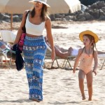 Jessica Alba Vacations in Maui With Family