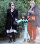 Helena Bonham Carter Walks Through The Set Of 'Five Seconds Of Silence' In London
