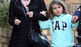 Helena Bonham Carter and Daughter Nell Visit Brad Pitt on 'Five Seconds of Silence' Set