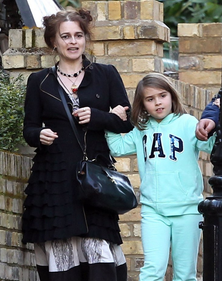 Helena Bonham Carter Walks Through The Set Of 'Five Seconds Of Silence' In London