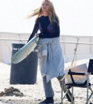 Blake Lively Films 'The Shallows' On The Beach