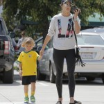 Alessandra Ambrosio and Son Noah Enjoy Yogurt Date