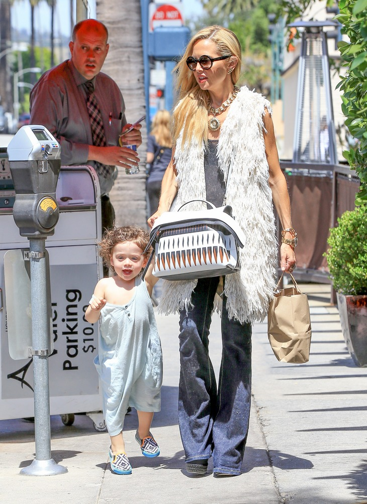 Rachel Zoe Shops With Her Son In Beverly Hills