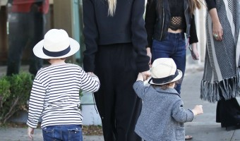 Rachel Zoe Enjoys a Silly and Stylish Lunch Date With Sons Skyler and Kaius